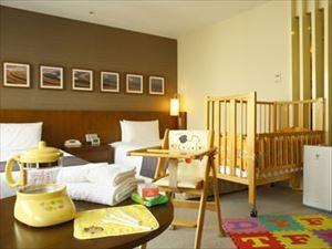 宿泊先の部屋は赤ちゃん専用