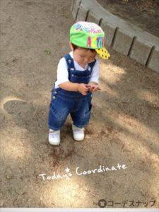 男の子の帽子の夏のコーデ
