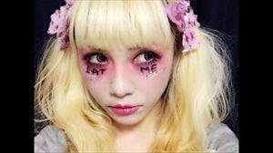 魔女風メイク