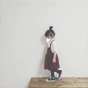 子供服の女の子秋冬のコーデ