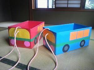 ダンボールでのおもちゃの作り方