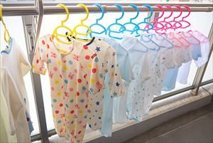 赤ちゃんの洗濯物の干し方