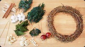 クリスマスでのリースの作り方