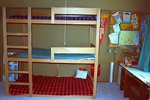 三段ベッドをDIY