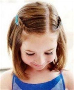 卒業式でショートの女の子のヘアアレンジ