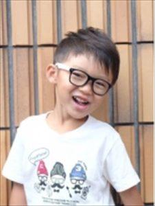 入学式で男の子