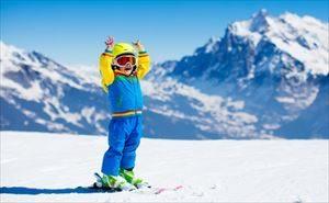 スキーにきた少年