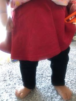 秋冬の子供服で女の子に人気:スカート付きレギンス